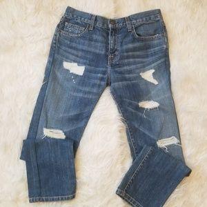 Current/Elliot The Boyfriend Distressed Jeans 25
